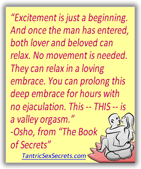 "Tantric Sex: quote from Osho's ""the Book of Secrets"""